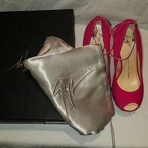 Giuseppe Zanotti Shoes - NIB Giuseppe Zanotti Camoscio In Bouganville